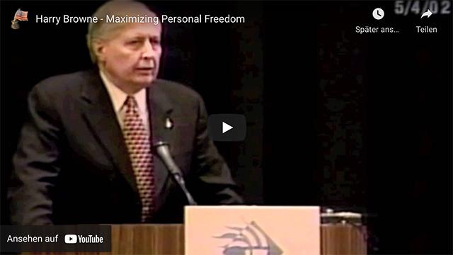Harry Browne: Maximizing Personal Freedom