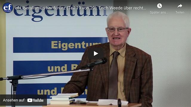 ef-Liberalismus-Konferenz (Teil 19 von 20): Erich Weede über rechte und linke Kollektivisten