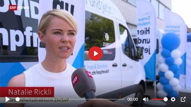 Impfen als Volksfest – Impfbus-Premiere in Gossau
