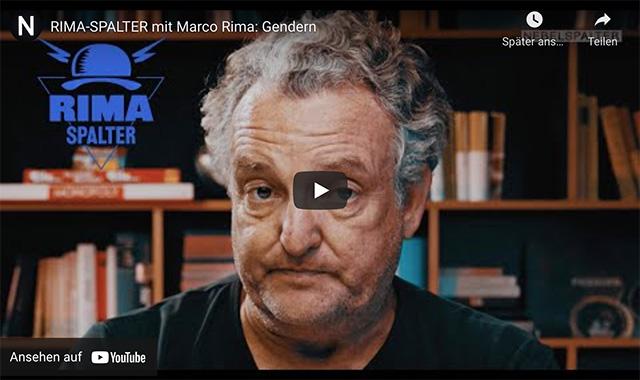 Rima-Spalter mit Marco Rima: Gendern