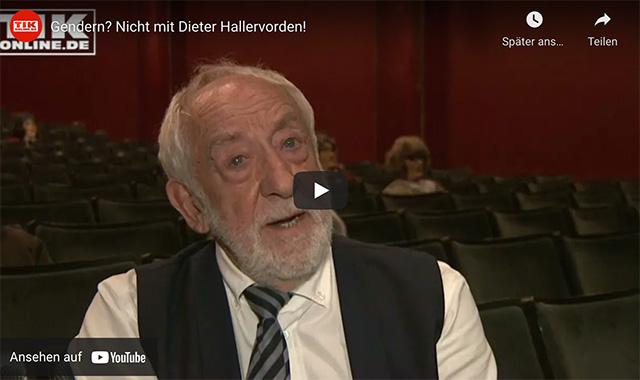 Gendern? Nicht mit Dieter Hallervorden!