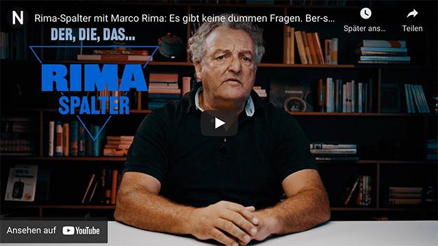Rima-Spalter mit Marco Rima: Es gibt keine dummen Fragen