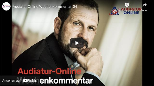 Audiatur-Online Wochenkommentar mit Giuseppe Gracia