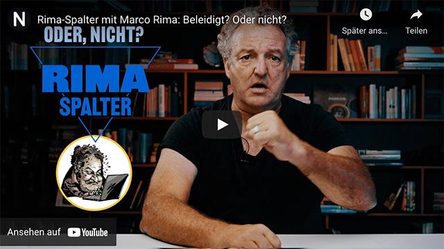 Rima-Spalter mit Marco Rima: Beleidigt? Oder nicht?