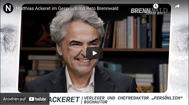 Matthias Ackeret im Gespräch mit Reto Brennwald